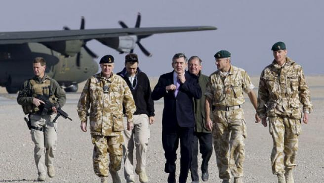Gordon Brown, en Afganistán.
