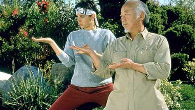 Ralph Macchio y Pat Morita en 'Karate Kid'.