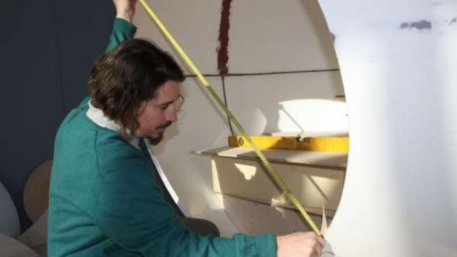 El casco de presión del submarino catalán.