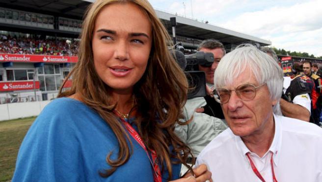 Bernie Ecclestone y su hija Tamara, en una imagen de archivo.