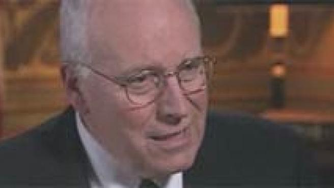 Cheney, en varios momentos de la entrevista en la ABC.