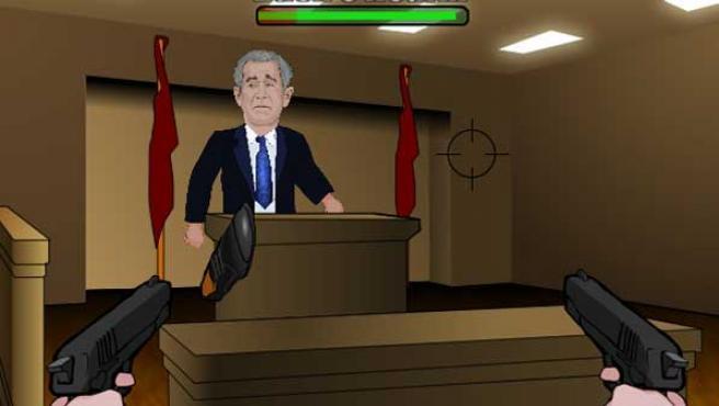 Bush, amenazado por los zapatos.