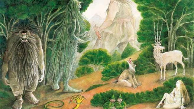 Ilustración del 'Libro de monstruos españoles. JESÚS GABÁN