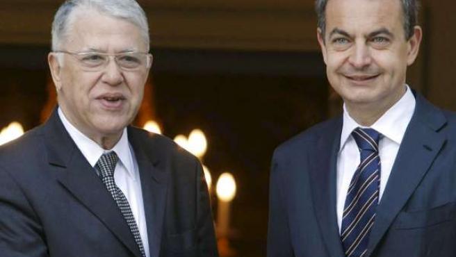 Zapatero con su homólogo marroquí, Abbas El Fassi.