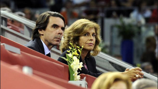 Los Aznar, en una foto tomada el pasado mes de octubre (KORPA).