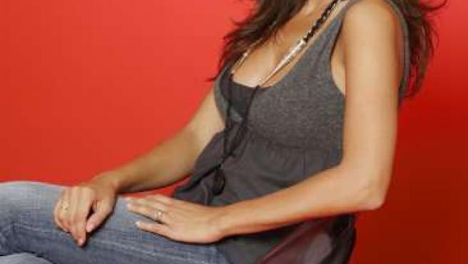 La presentadora Carmen Alcayde.