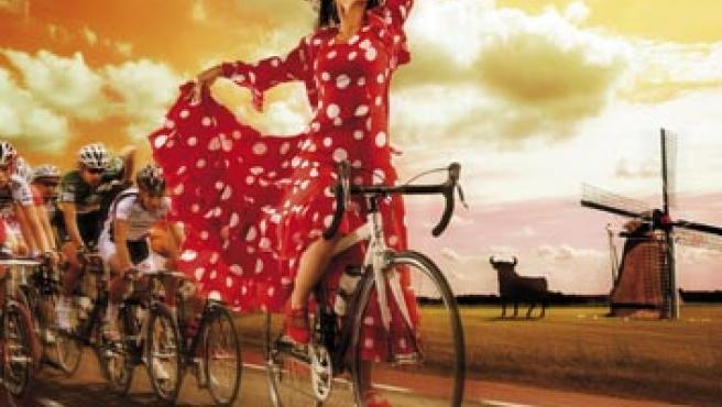 Así promocionan la Vuelta a España 2009 en los Países Bajos. (FOTO: vueltadrenthe.com )