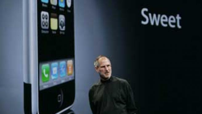 Steve Jobs durante la presentación del iPhone.