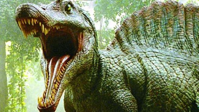Un dinosaurio de Dinópolis. (ARCHIVO)