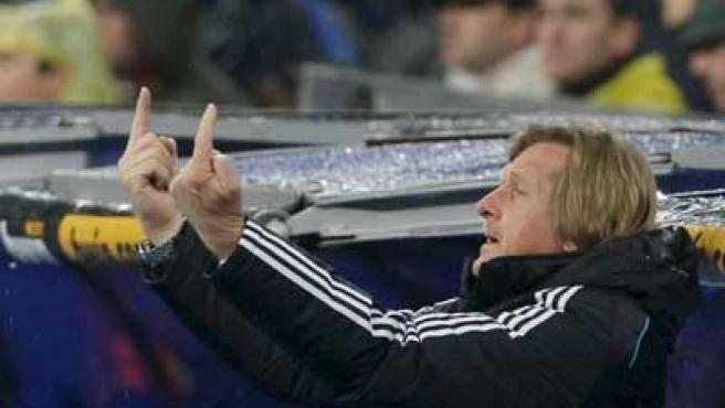 Bernd Schuster, cuando ejercía como entrenador del Real Madrid.