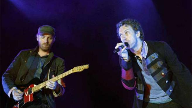 Coldplay, en una actuación en Barcelona.