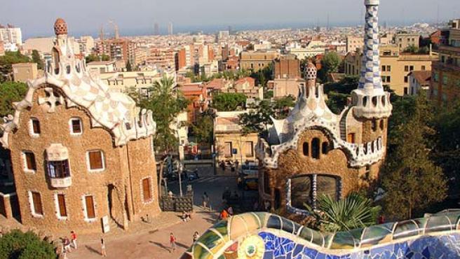 Vista desde el parque Guell, en Barcelona.