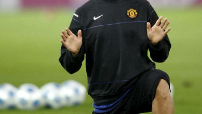 Cristiano Ronaldo, durante un entrenamiento.