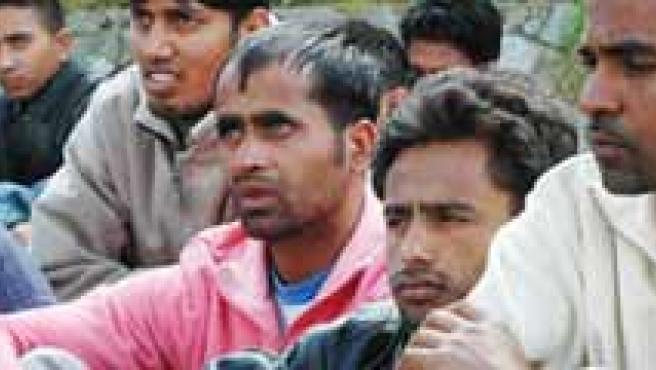 Un grupo de inmigrantes hindúes.