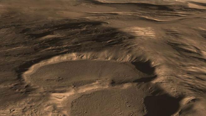 Los glaciares enterrados de Marte