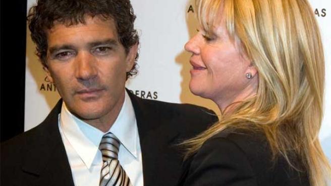 Antonio Banderas y su mujer, Melanie Griffith.