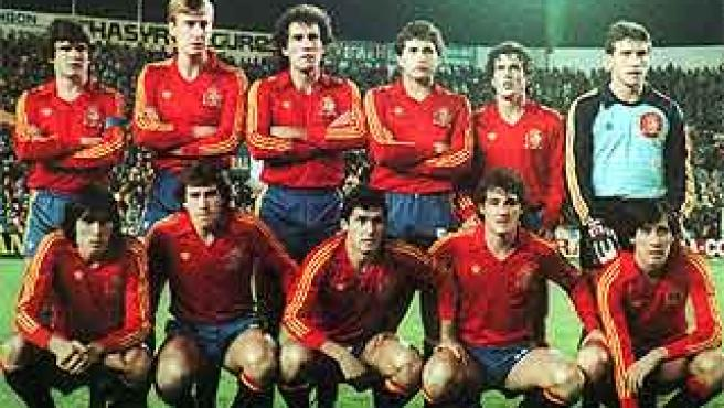 El once inicial de España en la goleada ante Malta (12-1).