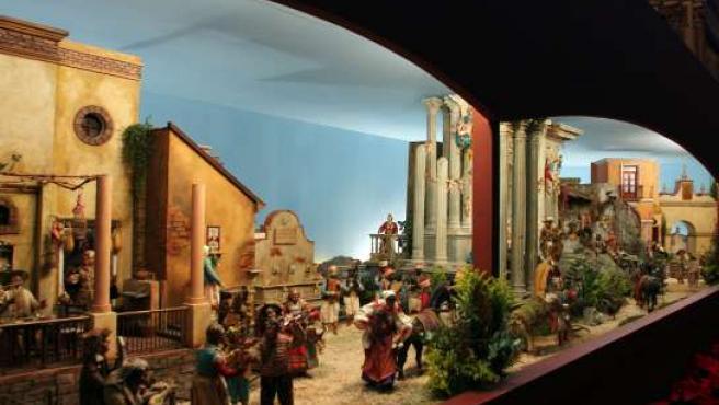 Imagen del belén napolitano que se exhibe en la Catedral.