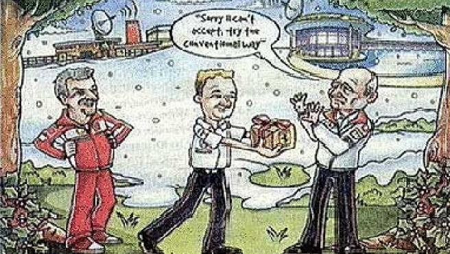 Felicitación de Bernie Ecclestone en la Navidad de 2007.