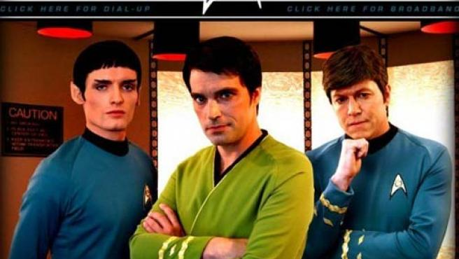 Tres de los personajes de 'Star Trek, New Voyages'
