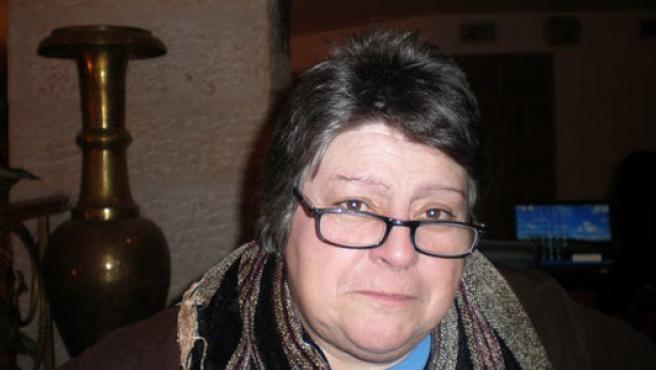 Ana Luisa Valdes, en la cafetería del hotel Bethlehem, en la ciudad de Belén. (J. M. M.)