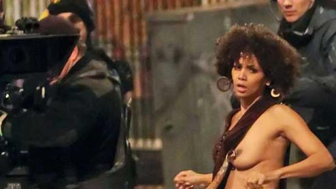 Halle Berry, durante el rodaje de 'Frankie and Allice'. EGOTASTIC!