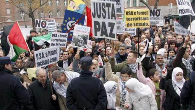 Manifestación contra Israel en Madrid. (EFE)