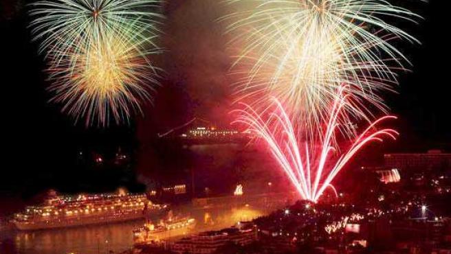 Los fuegos artificiales son una constante el 31 de diciembre.