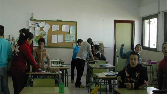 El aula de un colegio, en una imagen de archivo.