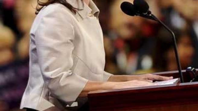 Sarah Palin, en la campaña presidencial del 2008.