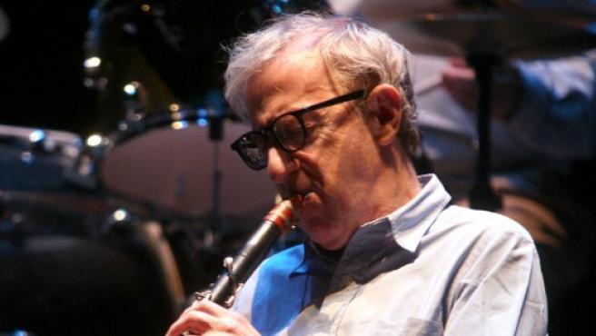 Woody Allen durante el concierto en Valladolid