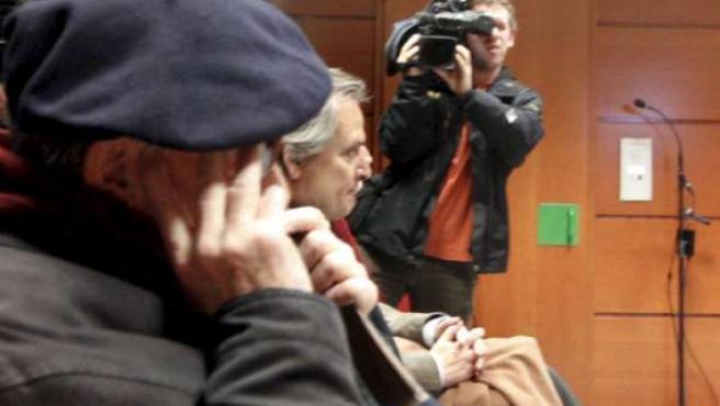 Alejandro Aranburu, militante del PNV, en un momento del juicio.