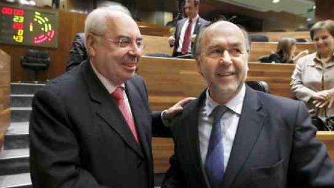Areces y Jaime Rabanal, en la Junta