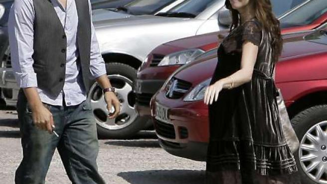 Paz Vega y su marido, durante el primer embarazo de la actriz.