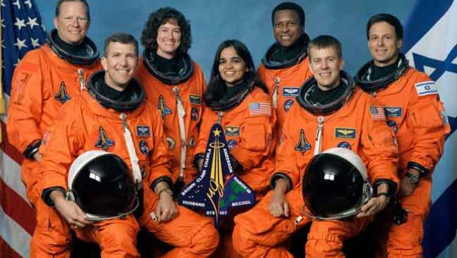 La tripulación del Columbia (AP - NASA)