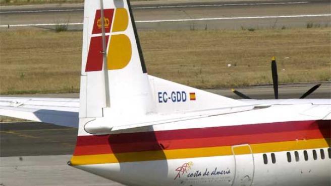 Imagen de un avión de la compañía Iberia.