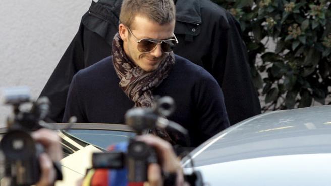 Una imagen de David Beckham, que jugará en el Milan hasta marzo.