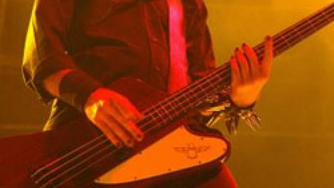 El cuarteto metalero de System of a Down durante su actuación en el Festimad de 2005. (EFE)