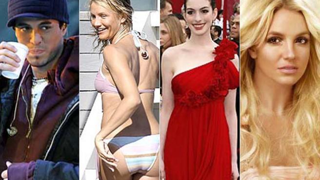 Enrique Iglesias, Cameron Díaz, Anne Hathaway y Britney Spears tienen buenos propósitos para el nuevo año. ARCHIVO