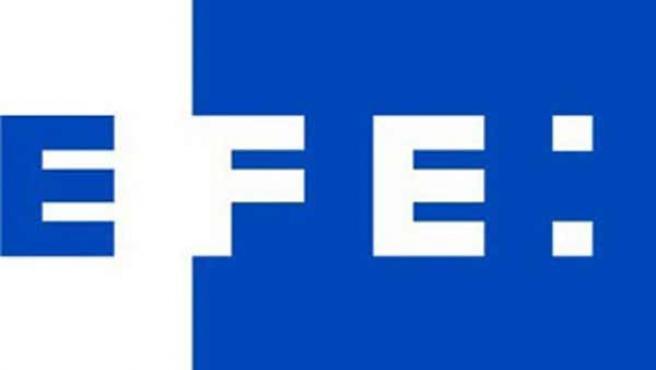 Detalle del logotipo de la agencia EFE. EFE