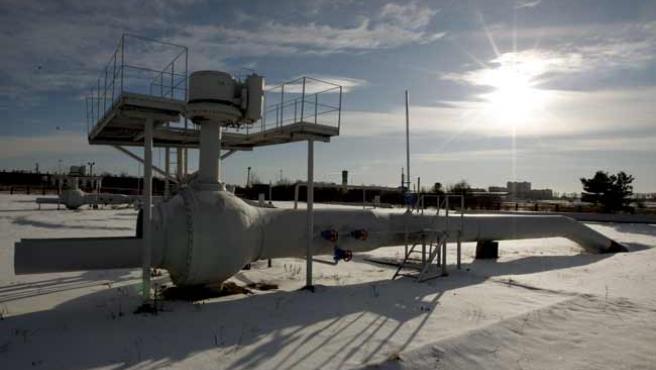 Instalaciones del principal gaseoducto de gas natural en la localidad de Boyarka, cerca de Kiev. EFE