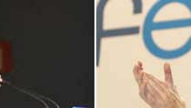 Imágenes de archivo de Jaime Mayor Oreja y Mariano Rajoy.