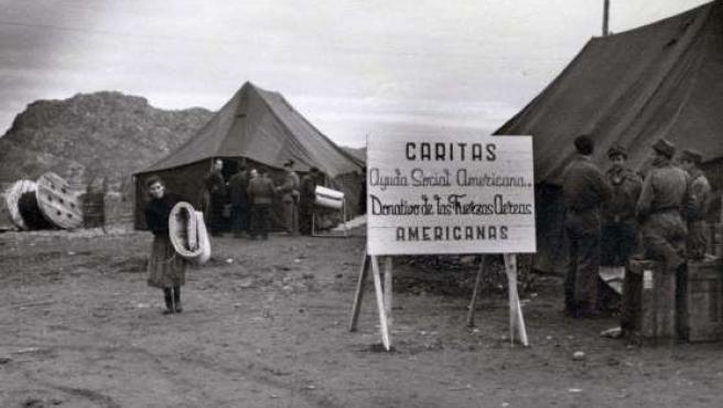 En la imagen, hospital de campaña instalado para atender a los heridos. (ICAL)
