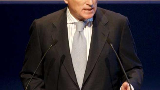 El ex presidente del Real Madrid, Ramón Calderón, en un instante de la última Asamblea de Compromisarios.