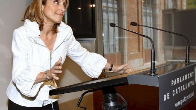La diputada catalana Montserrat Nebrera, en el Parlament.