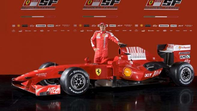 Massa y el nuevo F60 (Agencias).