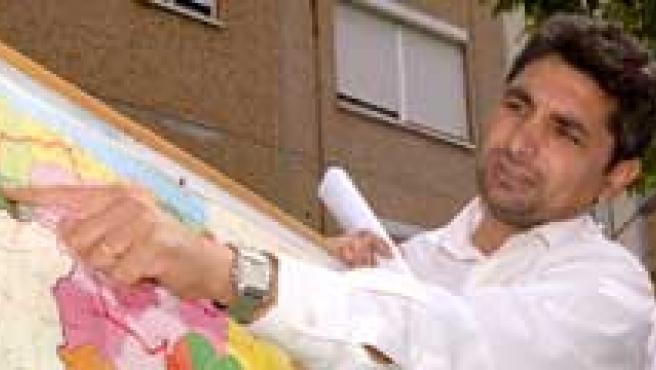 Mari Luz, su padre y el presuto asesino, Santiago del Valle.