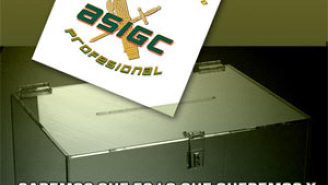 Cartel para las elecciones a la Guardia Civil. (ASIGC)