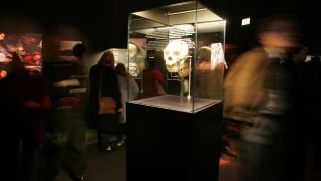 En la exposición se pueden ver algunas de las piezas originales más valiosas de Atapuerca.