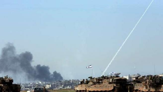 Tanques israelíes en Gaza